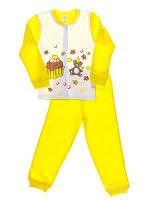 Пижама для девочки Niso Baby Торт желтая (рост 104см)