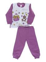 Пижама для девочки Niso Baby Торт фиолетовая (рост 86см)