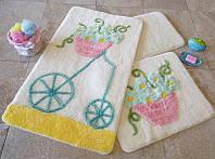 Набор ковриков (для ванной и туалета) №8989