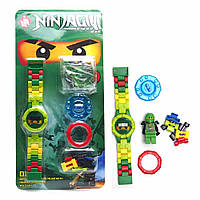 Лего ниндзяго Lego Ninjago часы +минифигурка
