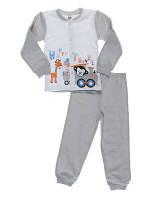 Пижама для мальчиков Niso Baby Happy Travel серая (рост 86см)