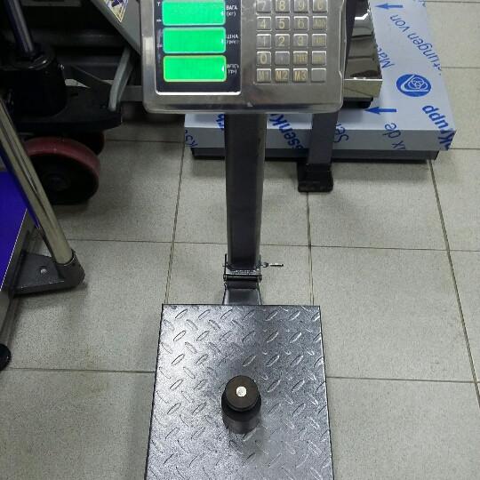 Товарные весы ВПЕ-Центровес-304-ДВ-Э 150кг (300х400мм)