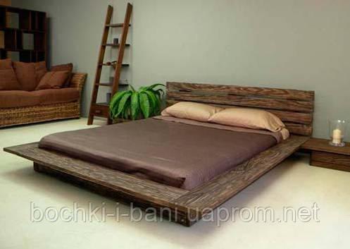 Кровать двуспальная из массива ясеня, фото 2