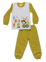 Пижама для мальчиков Niso Baby Happy Travel хаки (рост 86см)