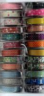 Скотч декоративный 334 цветной 24шт/уп текстиль