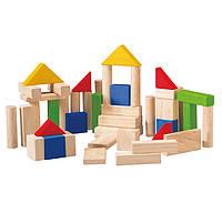 Деревянные кубики 50 деталей, PlanToys