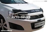 Дефлектор на капот Chevrolet Aveo 2011-2016