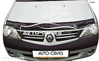 Дефлектор на капот для Renault Logan 2008-2012