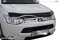 Дефлектор на капот для Mitsubishi Outlander 2013-2015 Vip Tuning