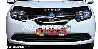 Дефлектор на капот для Renault Logan 2013 - …