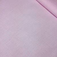 """Ткань """"Макароны"""" с мелкой полоской розового цвета №409"""