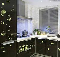 Светящиеся наклейки на потолок на стену, мебель, 055