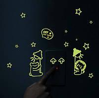 Светящиеся наклейки на потолок на включатель выключатель 056