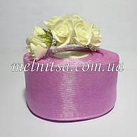 Лента из органзы, шир. 5 см, цвет розовая сирень, 1м