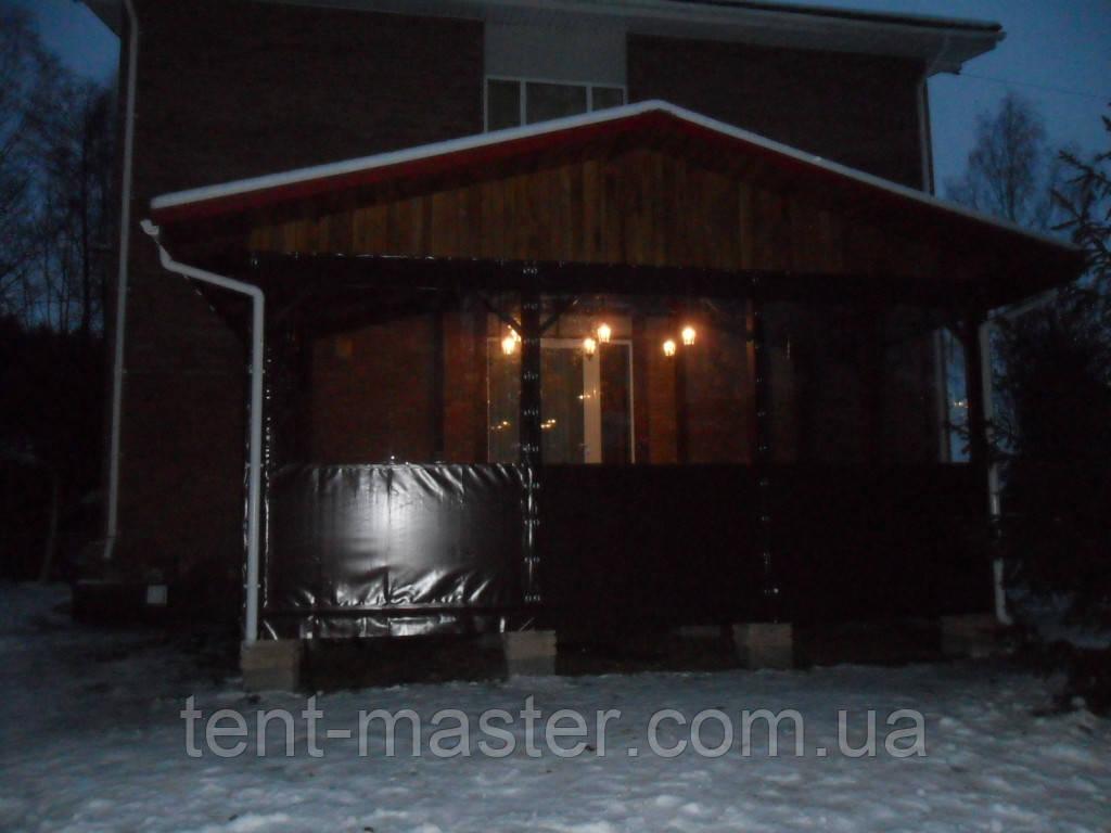 Мягкие ПВХ окна для веранды загородного дома