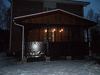 Мягкие ПВХ окна для веранды загородного дома, фото 1