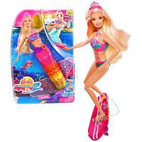 Barbie в костюмі русалки 2 в 1  (Mattel Кукла Барби в костюме русалки и с доской для серфинга 2-в-1)