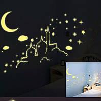 Наклейки на потолок  на стену, мебель, светящиеся звезды в темноте 060