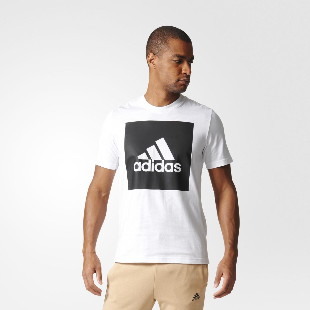 Мужская футболка Adidas Performance Essentials Box Logo (Артикул: B47358)