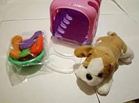 Мягкая игрушка собачка питомец в переноске, фото 1
