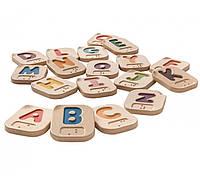 Деревянный Английский алфавит Брайля A-Z, PlanToys