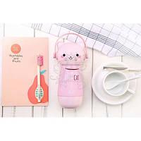 Бутылка-термос 395.2 металлическая розового цвета