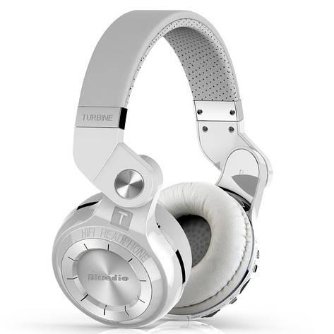 Наушники (гарнитура) Bluedio T2+ Plus. FM, MicroSD. White, фото 2