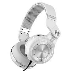 Наушники (гарнитура) Bluedio T2+ Plus. FM, MicroSD. White, фото 3