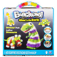 Конструктор липучка репейник Bunchems Банчемс Jumbo Pack 200+ Glow'n The Dark Dinosaur Spin Master Оригинал!, фото 1