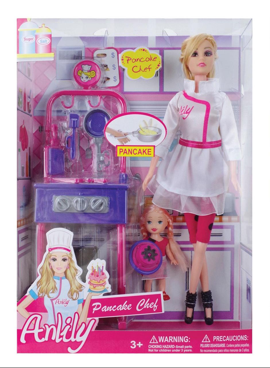 22f3655ae Кукла Barbie (Барби) и сестра Челси с кухней. 2 куклы с набором аксессуаров