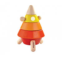 Деревянная игрушка Коническая пирамидка-сортер ракета, PlanToys