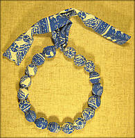 Етно намисто синьо-біле