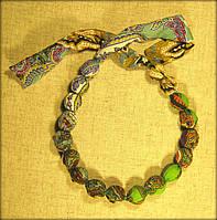 Етно намисто рябе зелене
