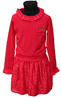 Нарядный костюм для девочки Кристина р.116-134 красный
