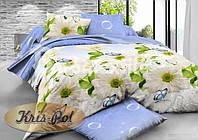 """Комплект постельного белья двуспальный, ранфорс, 3D """"Ромашковая свежесть"""""""