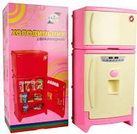 Игрушечный  холодильник двухкамерный музыкальный в коробке Орион