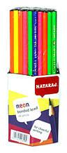 Карандаши чернографитные NATARAJ Neon (НВ) 201108007