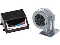 Комплект автоматики для твердотопливных котлов KG Elektronik SP-05 LED и вентилятор DP-02