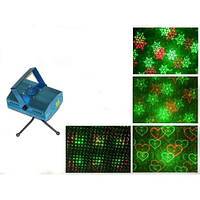 Лазерный проектор стробоскоп лазер шоу 4 в 1