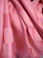 """Шарф """"Шахматы""""цв светло-розово-розовый"""