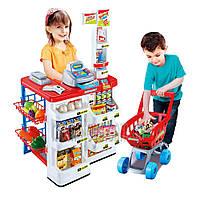 Детский Магазин Супермаркет игровой  668-01-03, тележка, продукты, прилавок