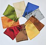 Мішечок для карт Таро Бірюзовий, сатин, фото 3
