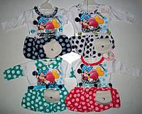 Платье с сумочкой для малышек 3,6,9,12 мес