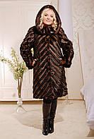 Роскошная женская шуба  -  иск. норка 48 - 62рр коричневая и черная