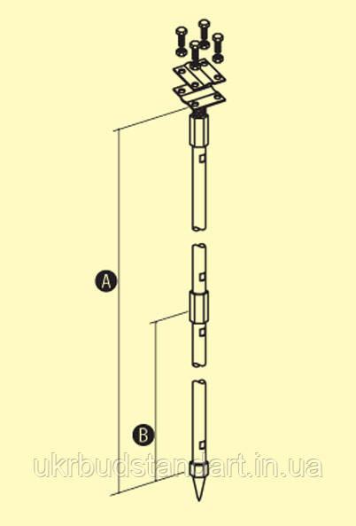 Заземлювач штирьовий (комплект 3-х метровий)