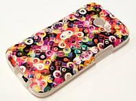 Чехол силиконовый с рисунком разноцветные кружочки для Samsung Galaxy Ace 3 s7270 / s7272 / s7275