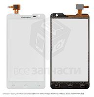 Сенсор, тачскрин для Pioneer S90W; Prestigio MultiPhone 5044 Duo, белый, CT4F044FPC-A1-E
