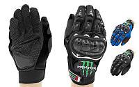 Мотоперчатки MONSTER Energy MS-4376 (PL,PVC, р-р L-XL, черный, синий)