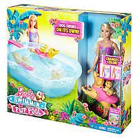 Набор с куклой Барби Бассейн для щенков DMC32 Barbie Swimmin' Pup Pool