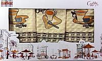 Набор кухонных вафельных полотенец Coffee